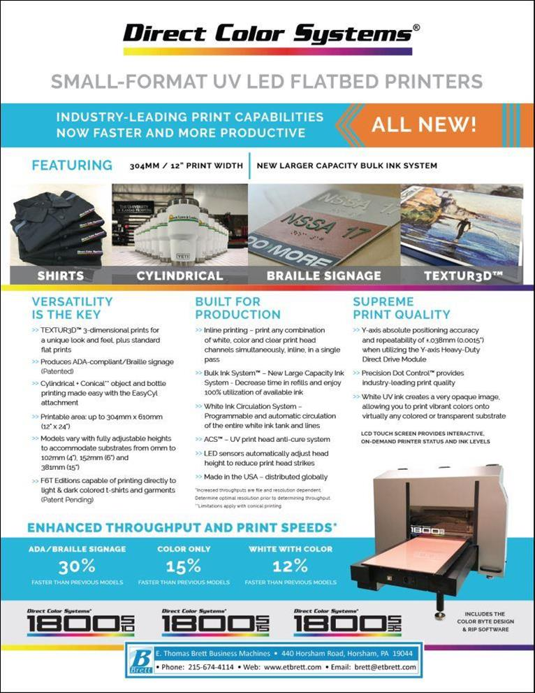 Direct Jet Direct-to-Substrate Digital Inkjet Printers