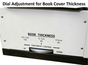 DigiBinder Dial Adjustment for Book Cover Thickness