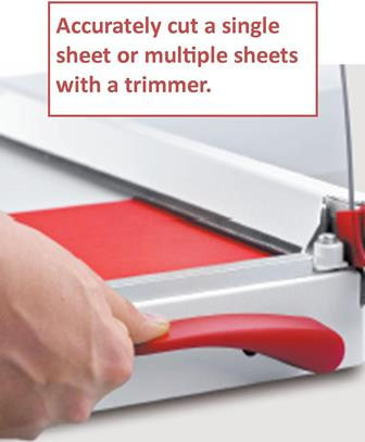 Trimmers-single to multiple sheet cutting